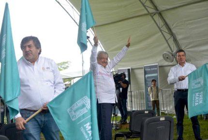 Desde Palenque, inaugura AMLO obras en Tramo 1 del Tren Maya