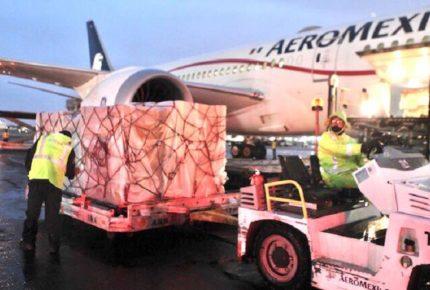 Llega a México vuelo con 85 ventiladores procedentes de China