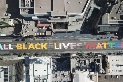 Protestan en Hollywood  contra la injusticia racial y brutalidad policiaca