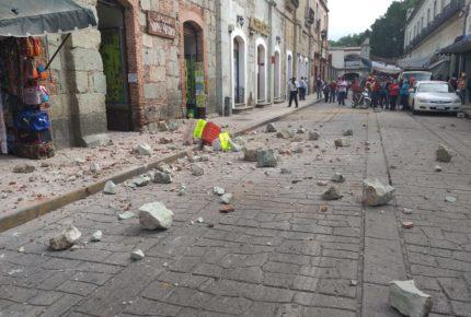 Suman cuatro muertos tras sismo de 7.5 en Oaxaca