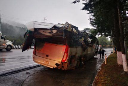 Accidente en la México-Toluca deja al menos dos muertos