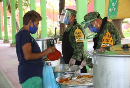 Instalan comedores comunitarios para afectados por pandemia en Guerrero