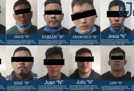 Procesan a 12 presuntos integrantes del CJNG