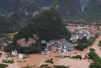 Lluvias e inundaciones dejan 20 muertos al sur de China