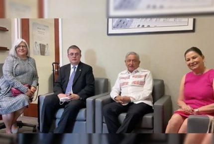 """Visita a EU fue """"muy intensa"""", revela AMLO de regreso a México"""