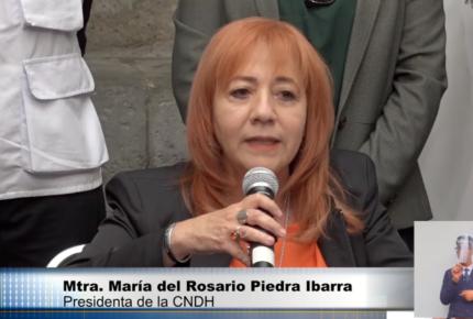 Amenazan de muerte a Rosario Piedra por atraer caso Giovanni López
