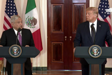 AMLO y Trump se llenan de elogios previo a cena en Casa Blanca