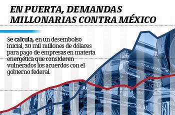 En puerta, demandas millonarias contra México