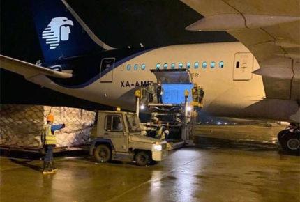 Envía China vuelo con 88 ventiladores para Covid-19 a México