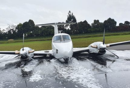 Aeronave de la DEA hace aterrizaje forzoso en aeropuerto de Colombia