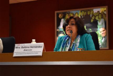 Designan a Balbina Hernández como encargada de Conavim