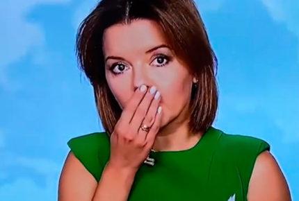 Presentadora de TV ucraniana pierde diente... ¡en vivo!