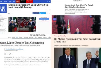 Prensa de EU retrata encuentro de AMLO y Trump