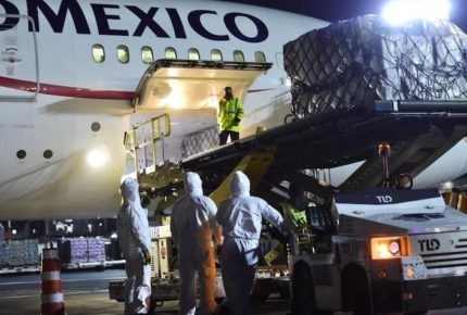 Llegan a México 35 ventiladores procedentes de China