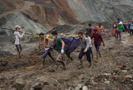 Deslizamiento de tierra en Birmania deja al menos 113 muertos
