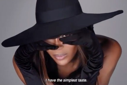 Sorpresa de Naomi Campbell