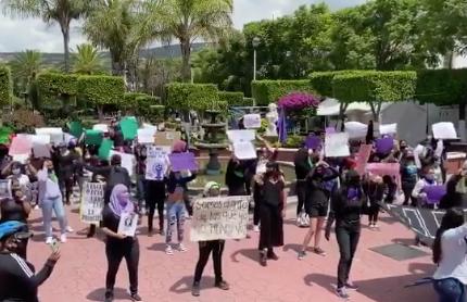 Protestan contra feminicidios en Hidalgo