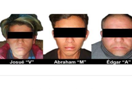 Liberan a menor y detienen a tres por secuestro en el Edomex