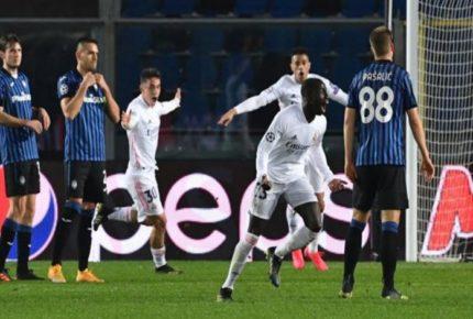 Real Madrid saca el resultado contra Atalanta en Champions League