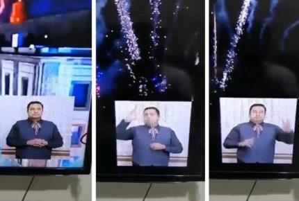 Traductor de lenguaje de señas se roba la noche en SLP