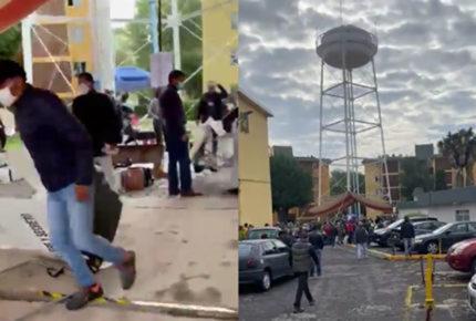 Llevan a Almoloya a sujetos que vandalizaron casilla en Metepec