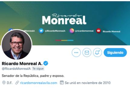 Hackean cuenta de Twitter de Ricardo Monreal