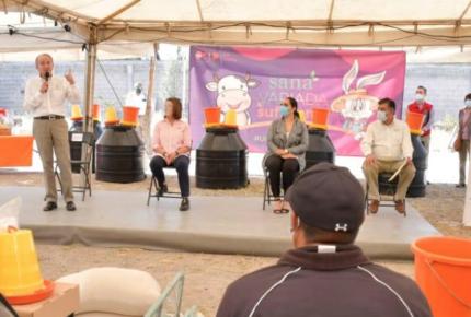 Gobierno de SLP y DIF entregan apoyos para familias en Mexquitic