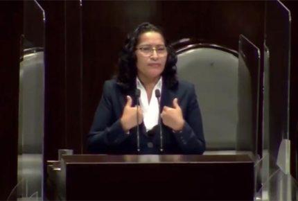 Diputada de Morena admite ante el Pleno haber sido corrupta