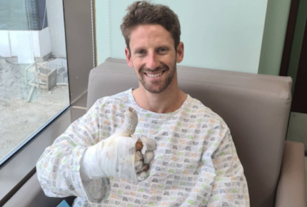 """Estoy bien"", dice Romain Grosjean tras aparatoso accidente"