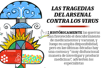 Las tragedias del arsenal contra los virus