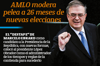 AMLO modera pelea a 26 meses de nuevas elecciones