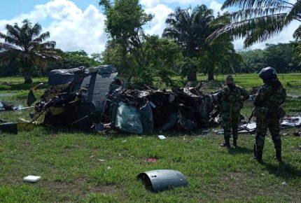 Desplome de helicóptero deja cinco policías muertos en Colombia