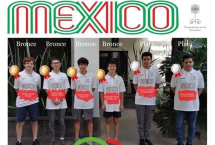 México obtiene seis medallas en Olimpiada de Matemáticas