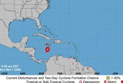 'ETA' se intensifica a huracán categoría 3