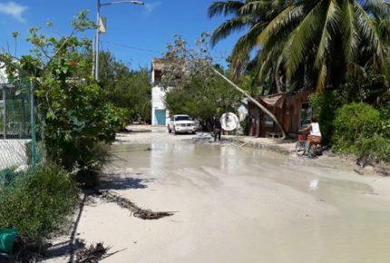 'Delta' dejó inundaciones de hasta 80cm en Holbox