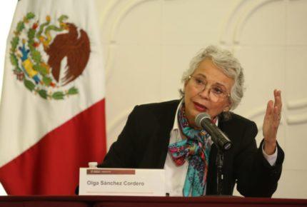 """Vivimos una """"pandemia de violencias"""": Olga Sánchez Cordero"""