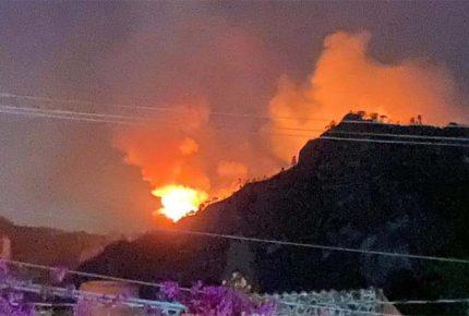 Se registra incendio en Tepoztlán; labores de combate son suspendidas