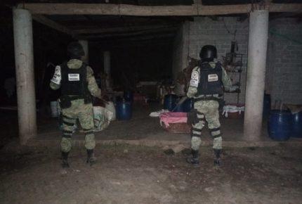 Guardia Nacional desmantela laboratorio clandestino en Sinaloa