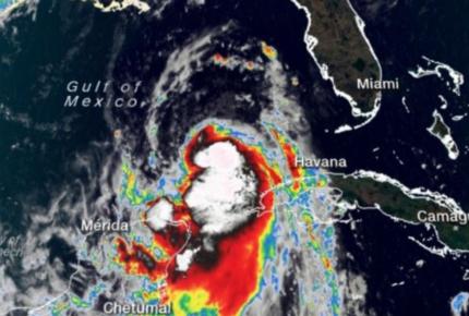 Tormenta 'Laura' se convierte en huracán en el Golfo de México