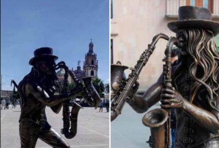Develan estatua de 'Sax' de La Maldita Vecindad en SLP
