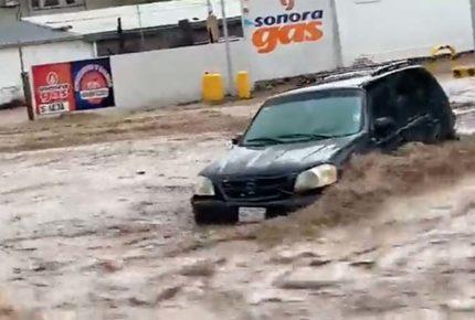 Lluvias provocan severas inundaciones en Nogales