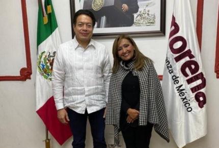 Lorena Cuéllar, abanderada de Morena para Tlaxcala