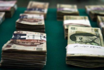 Detienen a mujer con más de 126 mil dólares en BC