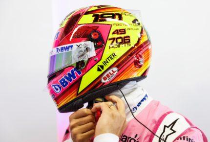 Nuevo casco en última carrera de 'Checo' Pérez
