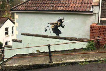Incrementa valor de casa por pintura de Banksy