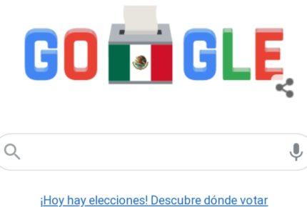 Google dedica su doodle a elecciones en México