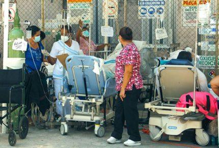 Por daños tras sismo, ISSSTE Acapulco atiende pacientes en carpas