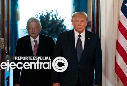 AMLO defiende a Trump; en EU buscan destituirlo