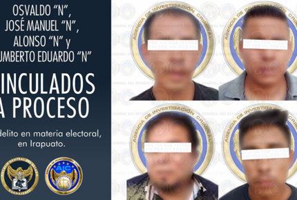 Procesan a cuatro por robo de urnas y boletas en Guanajuato