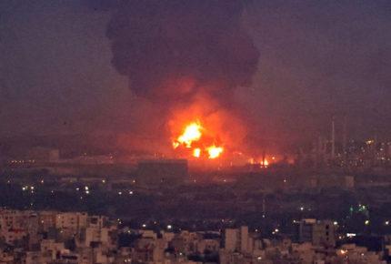 Controlan incendio en refinería de Teherán, pero no logran extinguirlo